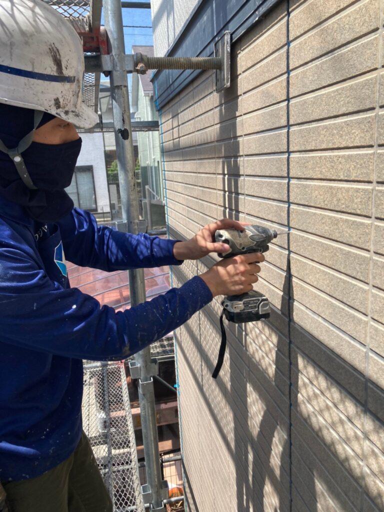 福岡市東区 コーキング撤去と養生 写真5