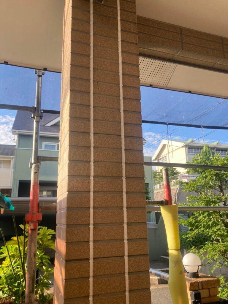 福岡市東区 コーキングの打ち替えと打ち増し 写真22
