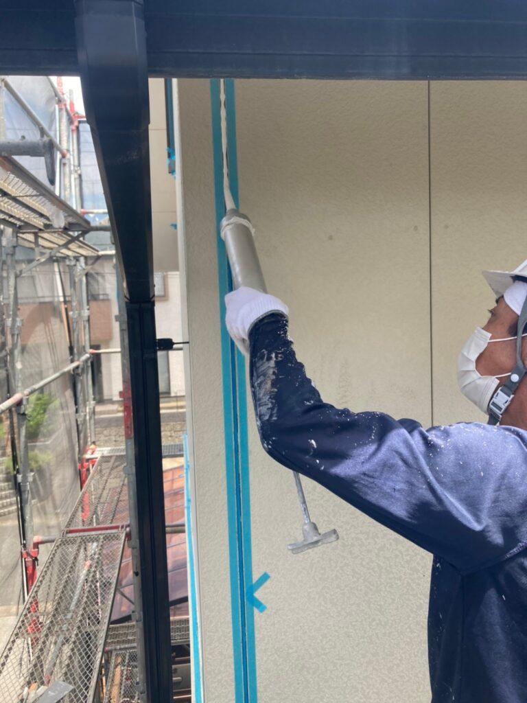 福岡市東区 コーキングの打ち替えと打ち増し 写真8