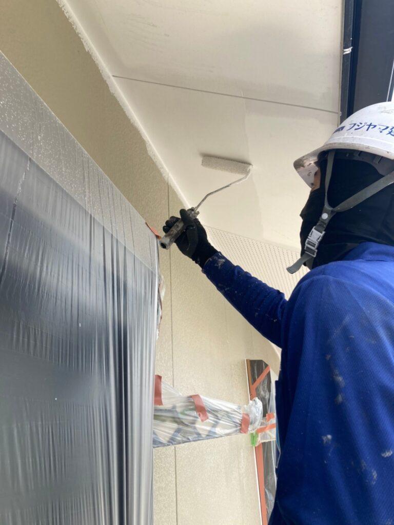 福岡市東区 外壁塗装(下塗り) 軒天塗装 写真12