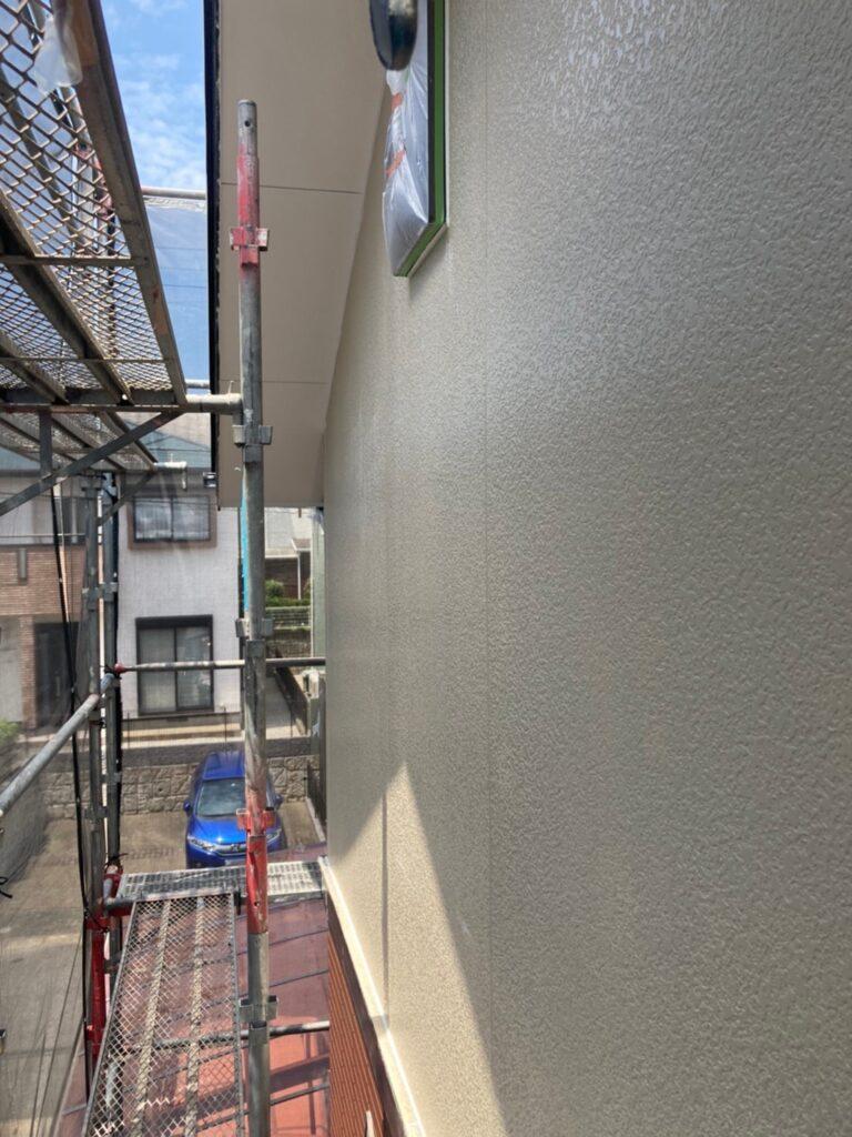 福岡市東区 外壁塗装(下塗り) 軒天塗装 写真6