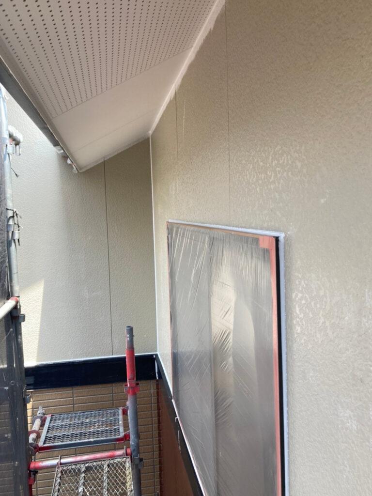 福岡市東区 外壁塗装(下塗り) 軒天塗装 写真7