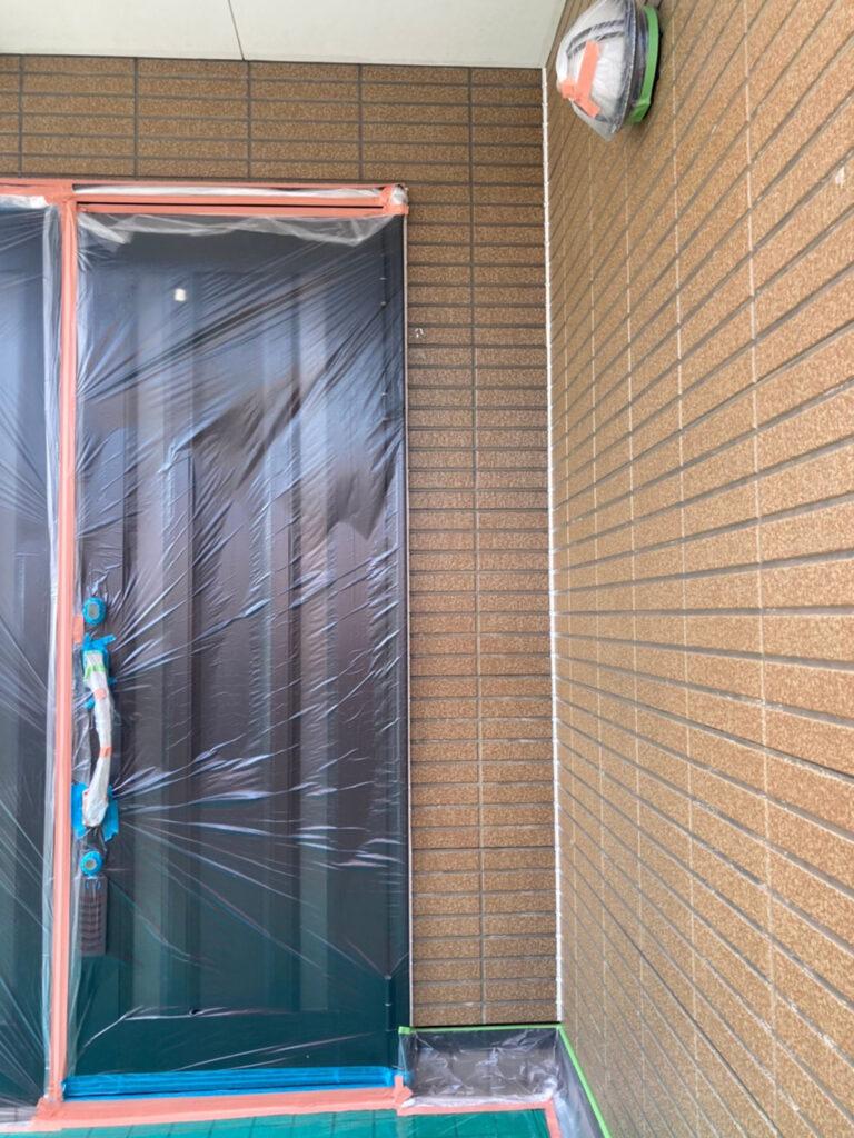 福岡市東区 外壁塗装(下塗り) 軒天塗装 写真8