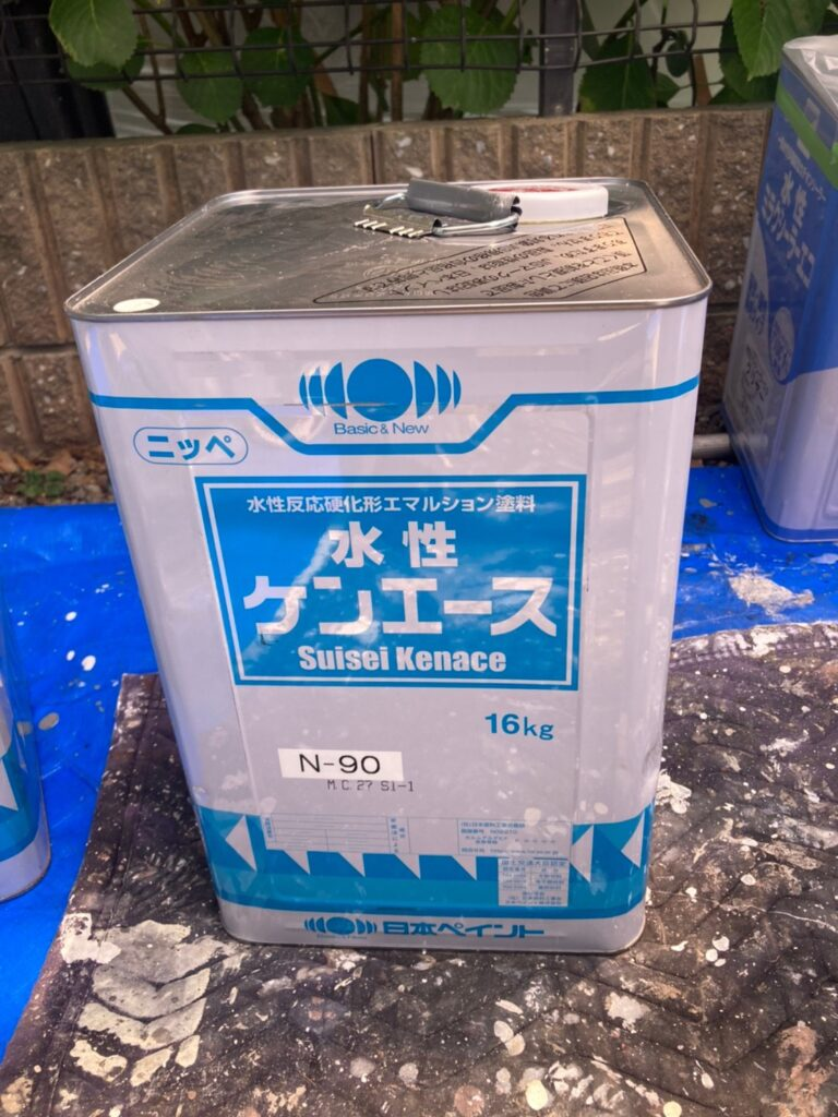 水性ケンエース:福岡市東区 外壁塗装(下塗り) 軒天塗装 写真9