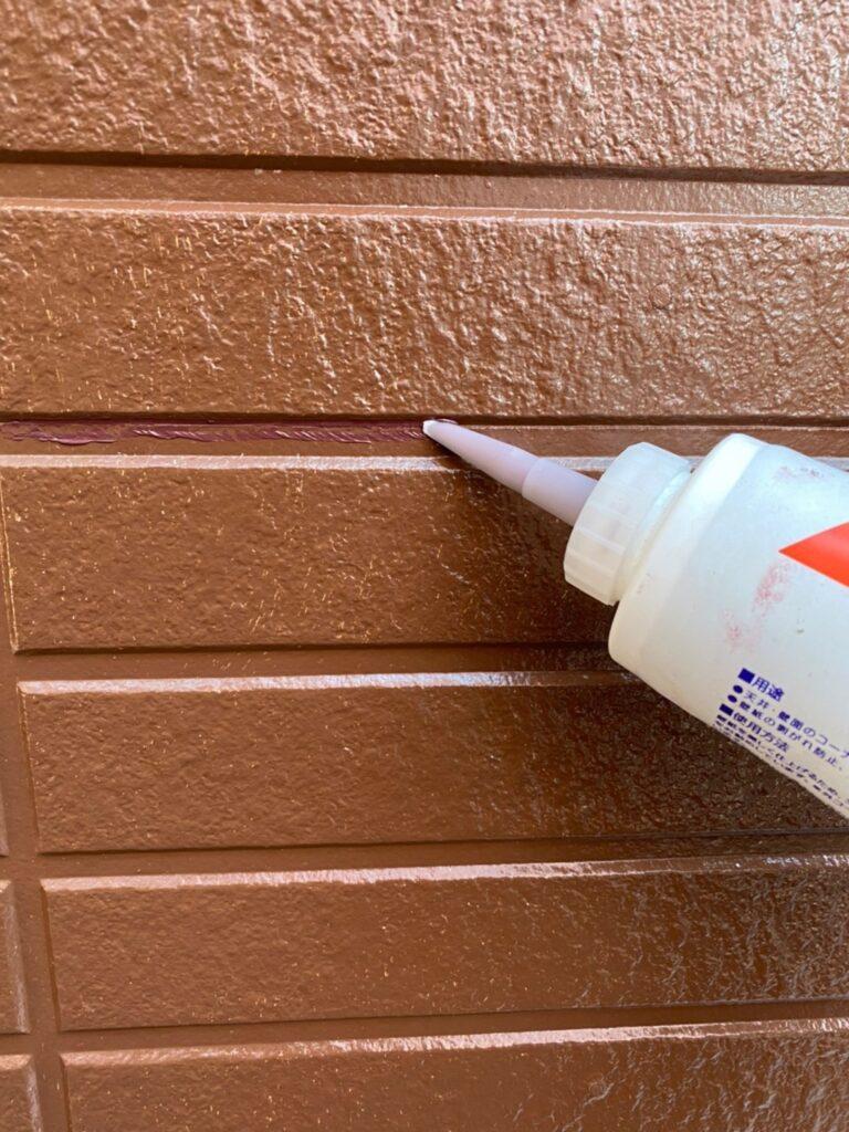 福岡市東区 外壁塗装(中塗り) 隙間処理 写真16