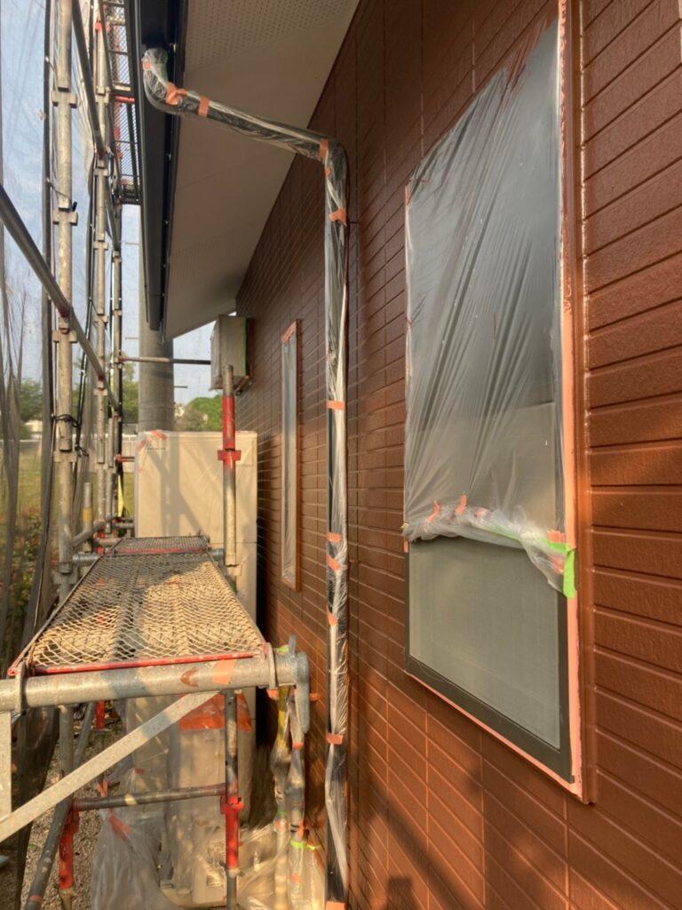 福岡市東区 外壁塗装(上塗り) 写真14