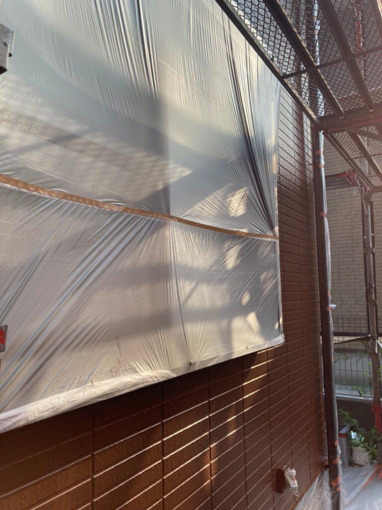 福岡市東区 外壁塗装(上塗り) 写真15
