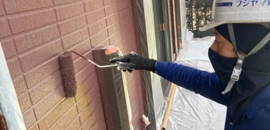福岡市東区 外壁上塗り