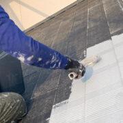 福岡市東区 屋根下塗りと付帯塗装