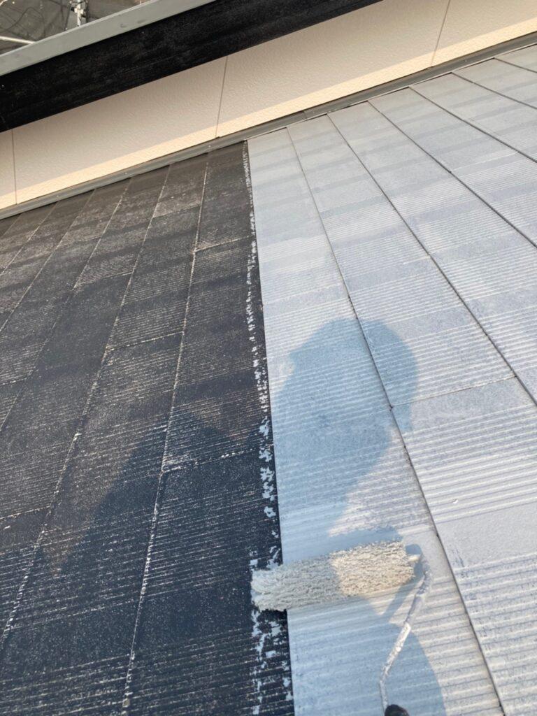 福岡市東区 屋根塗装(下塗り) 付帯塗装 写真4