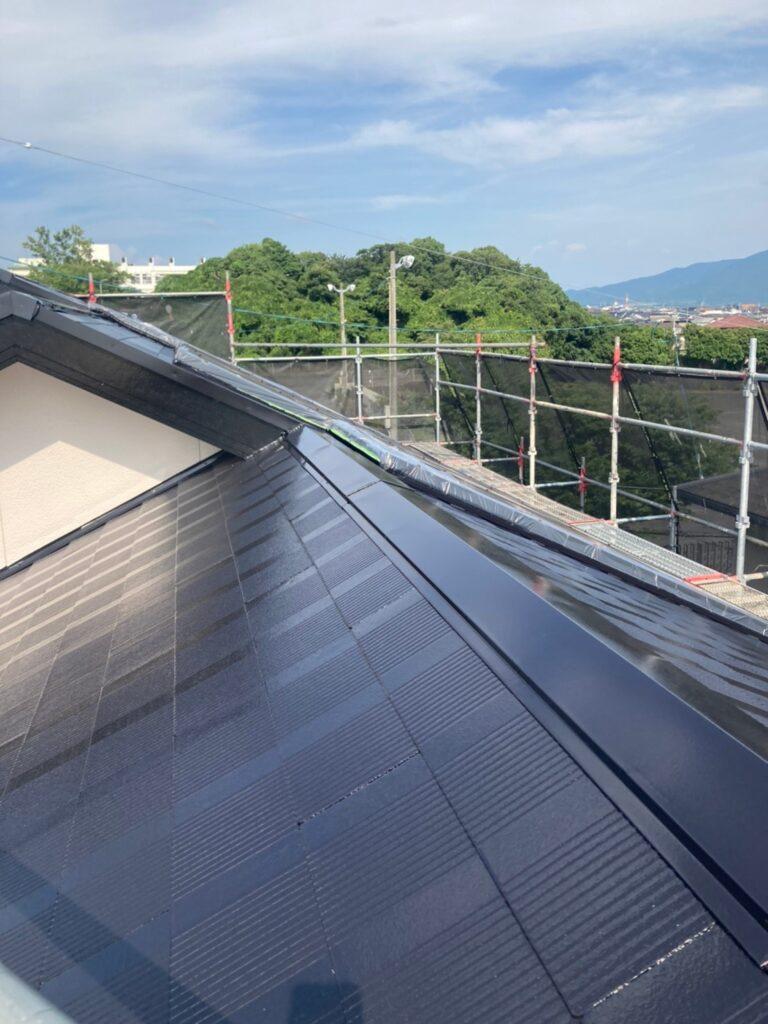 福岡市東区 屋根塗装 中塗り 上塗り 写真11