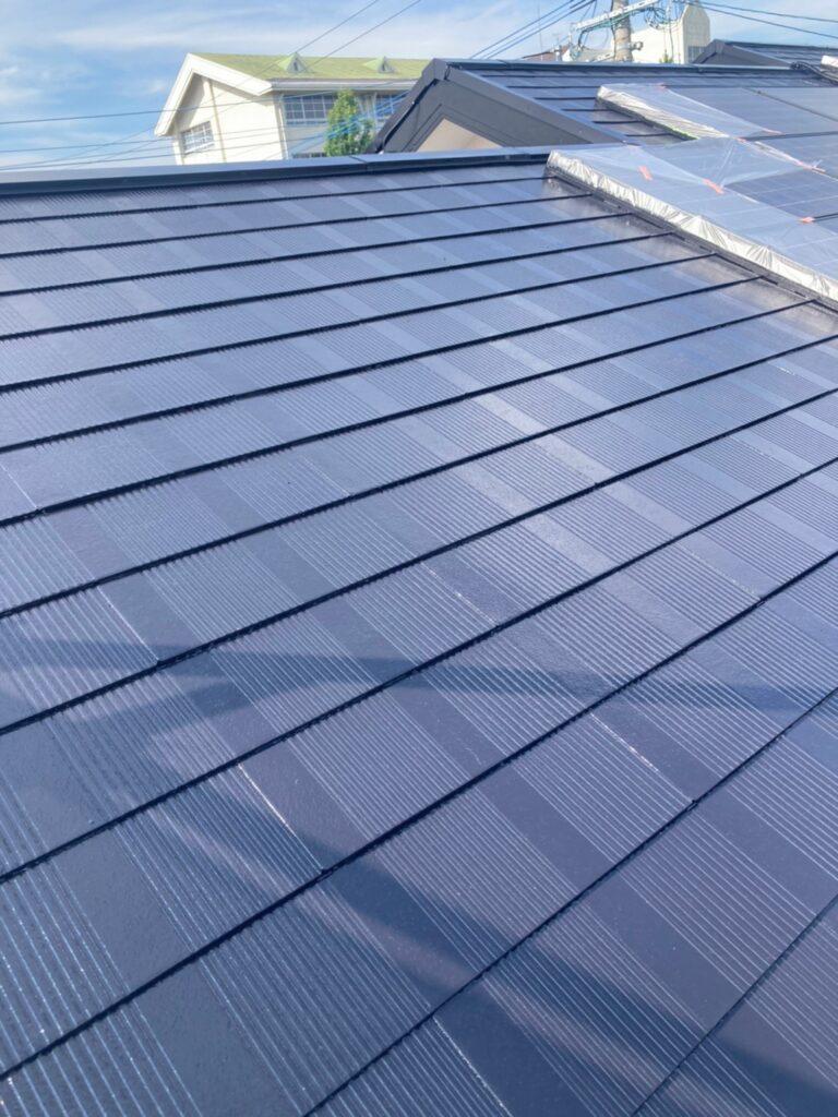 福岡市東区 屋根塗装 中塗り 上塗り 写真9