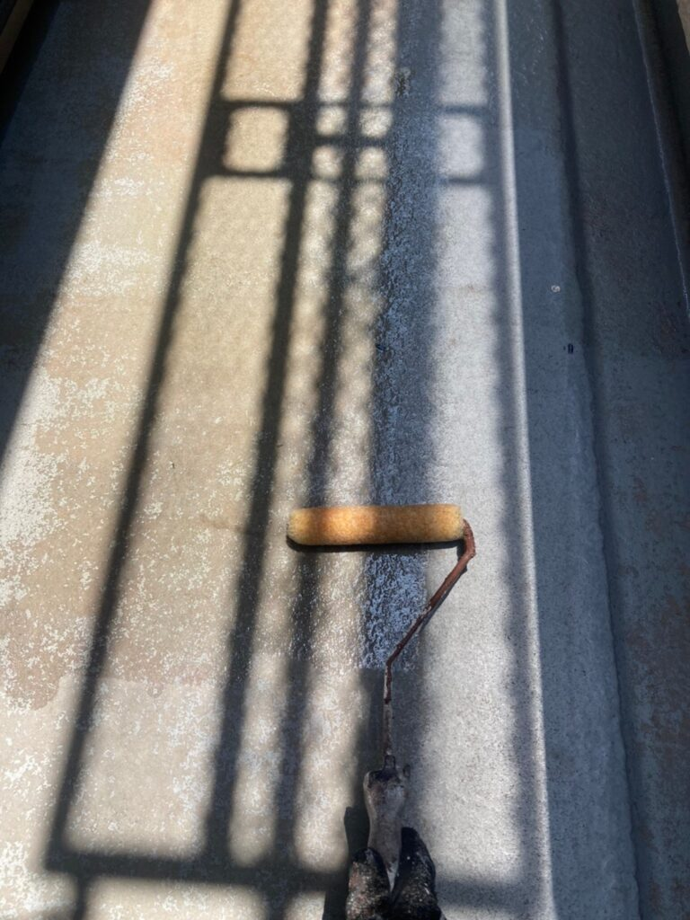 福岡市東区 ベランダ防水塗装 付帯塗装 写真2