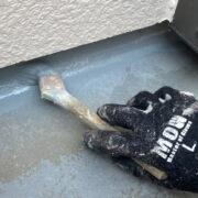 福岡市東区 ベランダ防水塗装と付帯塗装