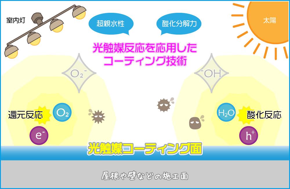 光触媒反応を応用したコーティング技術:フジヤマ建装
