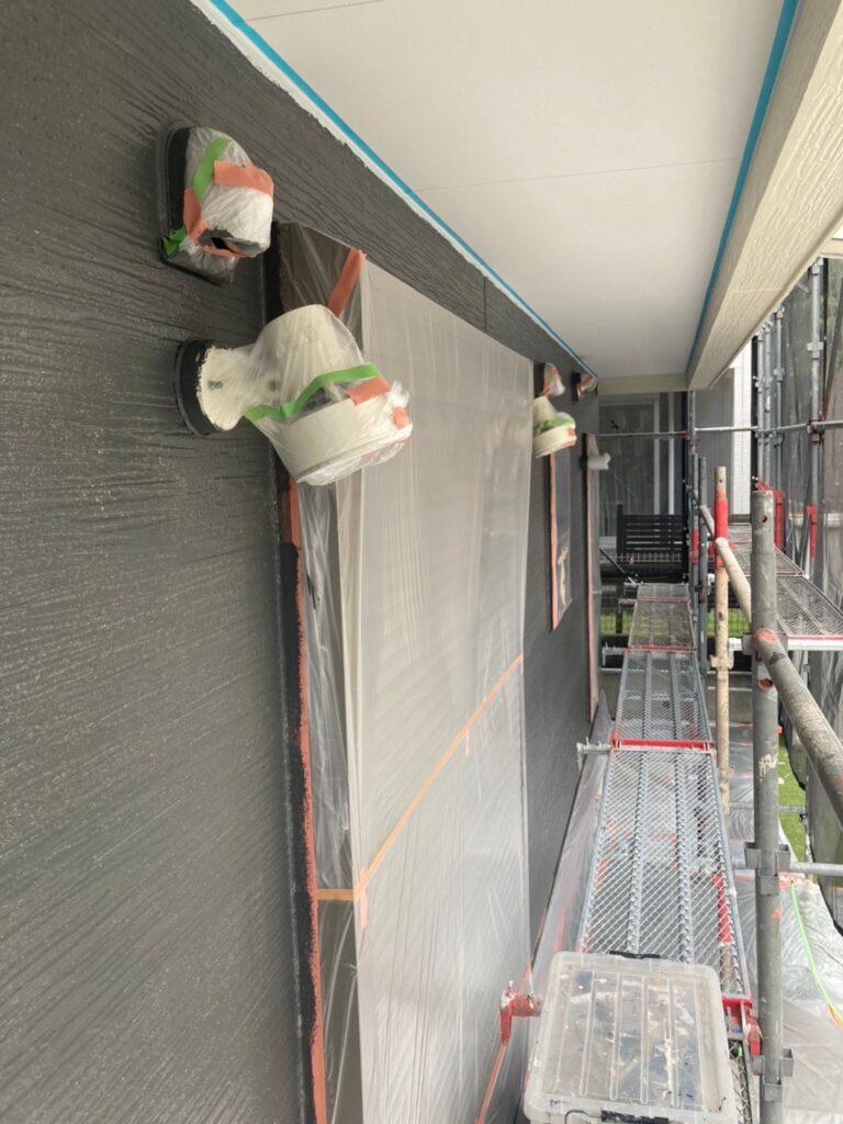 太宰府市 外壁塗装(中塗り) 写真12