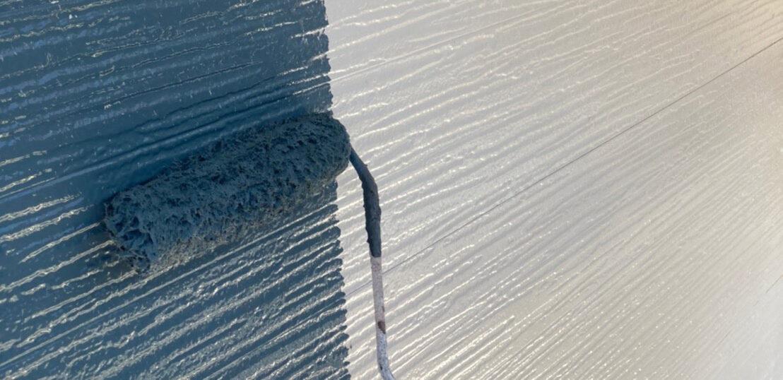 太宰府市 外壁塗装(中塗り)