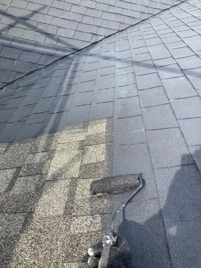 太宰府市 屋根塗装(下塗り) 写真4