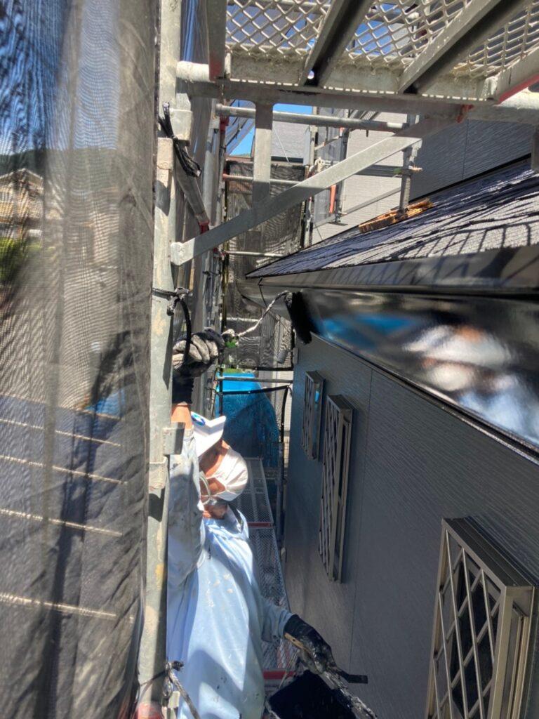 太宰府市 屋根塗装(中塗り) 付帯塗装① 写真12