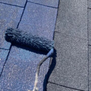 太宰府市 屋根塗装(中塗り) 付帯塗装①