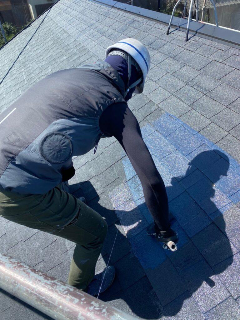 太宰府市 屋根塗装(中塗り) 付帯塗装① 写真3