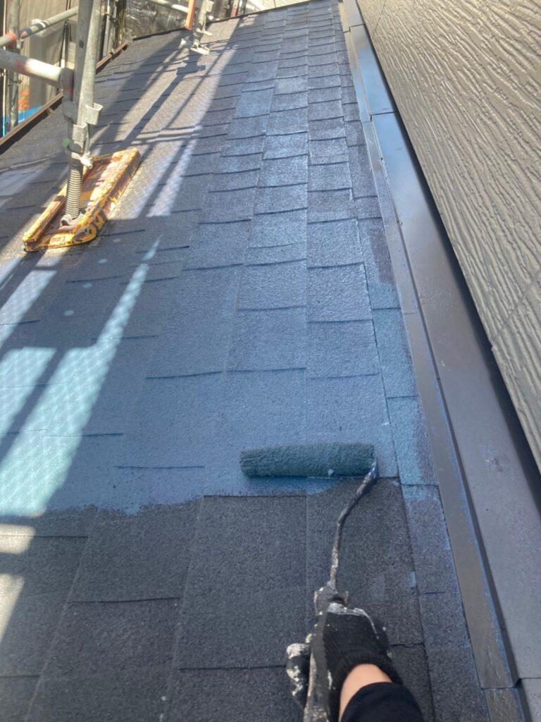 太宰府市 屋根塗装(中塗り) 付帯塗装① 写真4