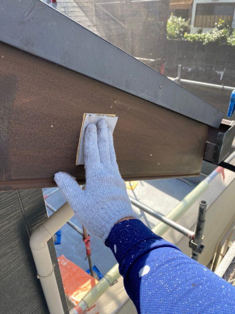 太宰府市 屋根塗装(中塗り) 付帯塗装① 写真6