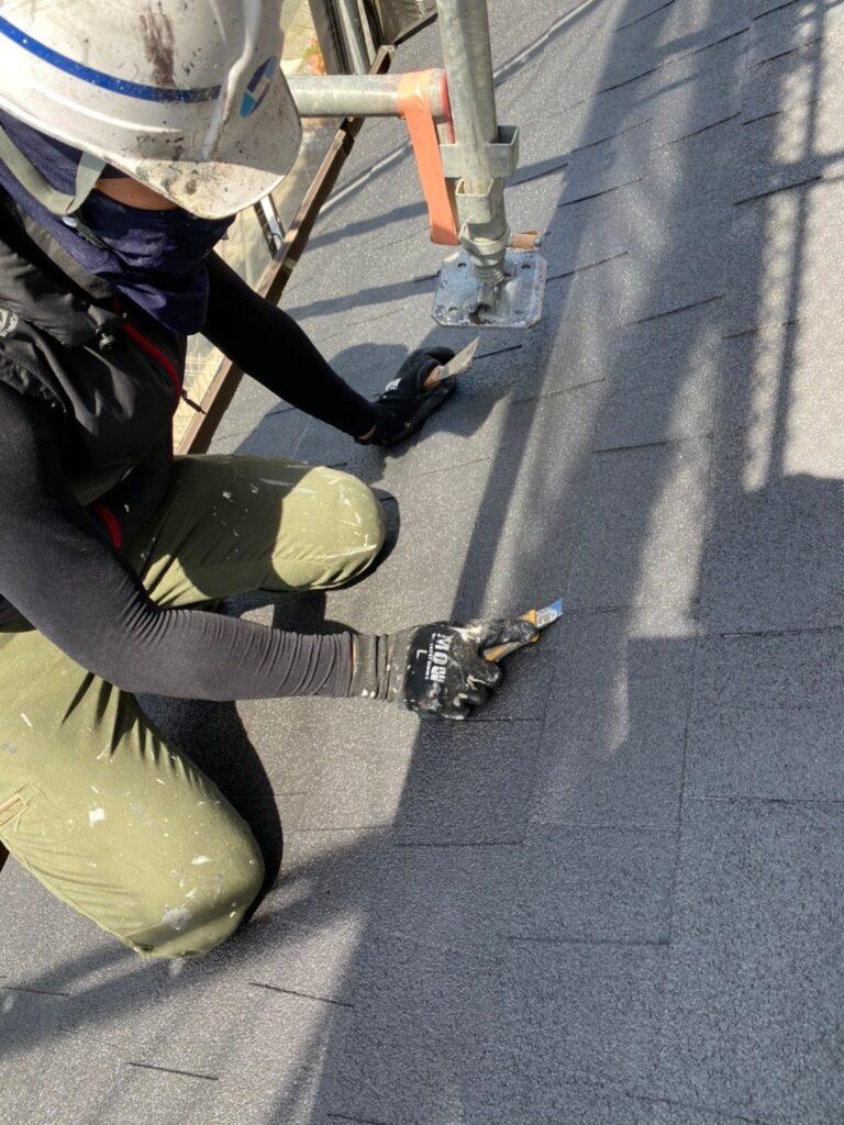 太宰府市 付帯塗装② 屋根縁切り 写真20