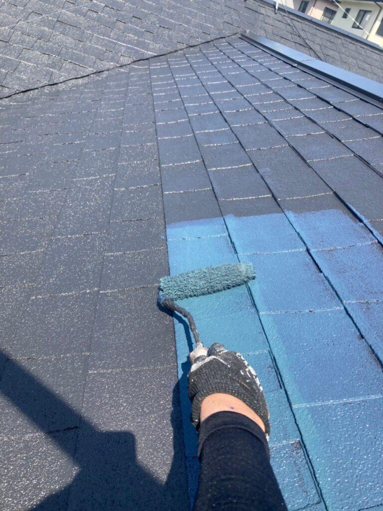 太宰府市 屋根塗装(上塗り) ベランダ防水塗装① 写真2