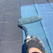 太宰府市 屋根塗装(上塗り) ベランダ防水塗装①