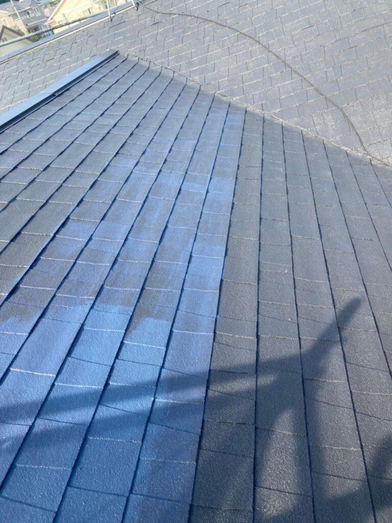 太宰府市 屋根塗装(上塗り) ベランダ防水塗装① 写真3