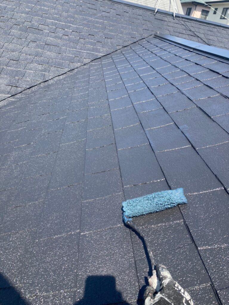 太宰府市 屋根塗装(上塗り) ベランダ防水塗装① 写真4