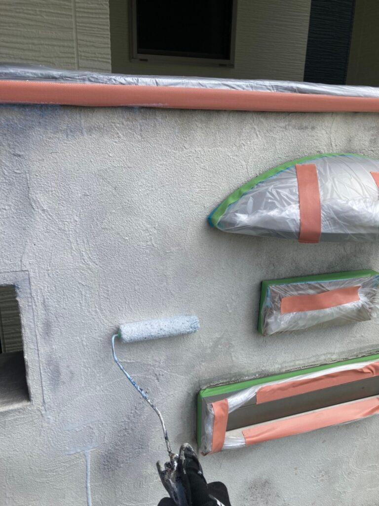 太宰府市 基礎巾木塗装(下塗り) など 写真6