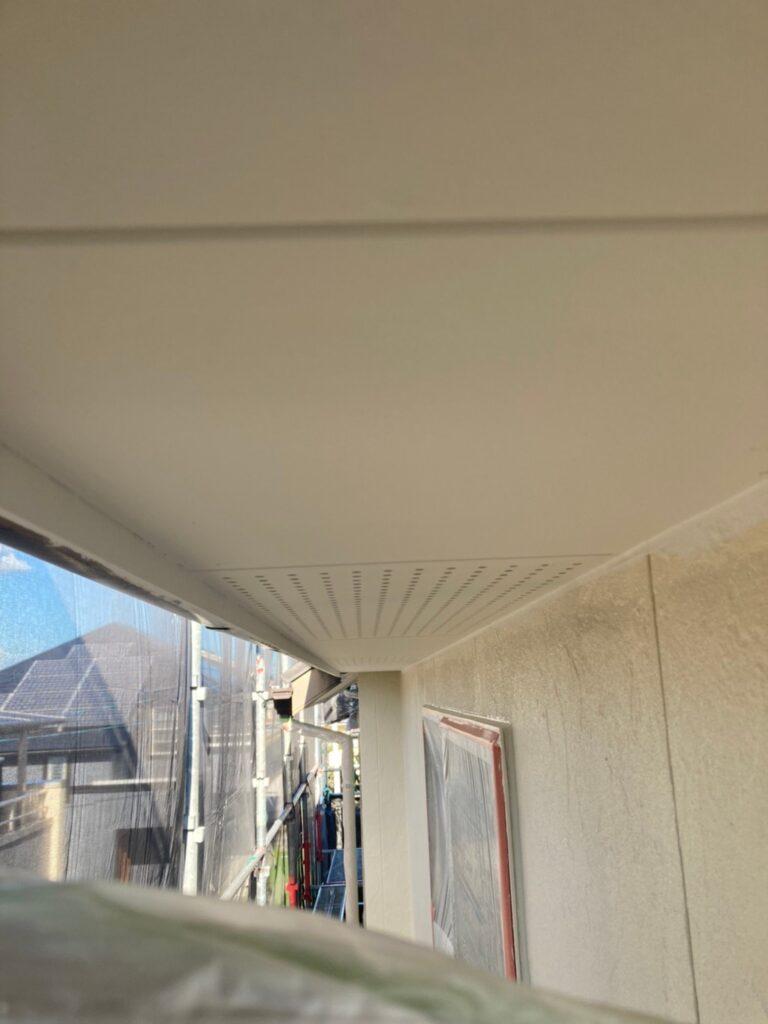 小郡市 外壁塗装(下塗り) 軒天塗装 写真8