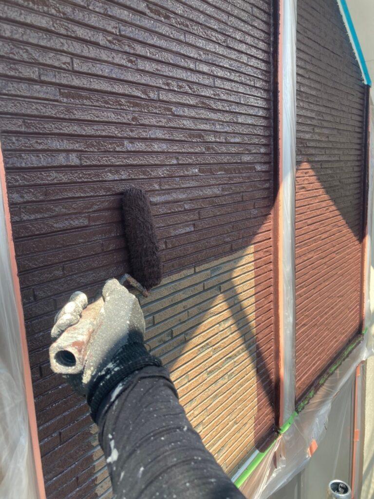 小郡市 外壁塗装(中塗り) 写真11