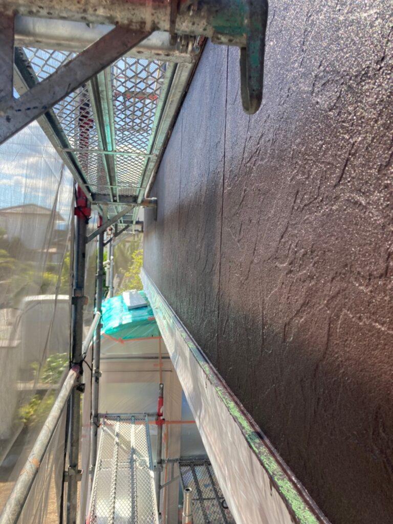 小郡市 外壁塗装(中塗り) 写真14