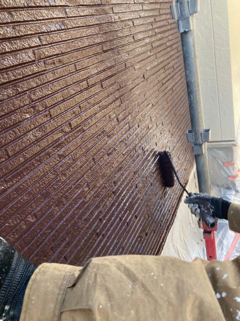 小郡市 外壁塗装(上塗り) 写真10