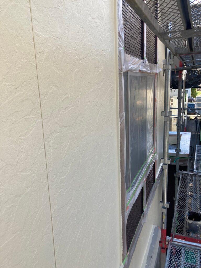 小郡市 外壁塗装(上塗り) 写真11