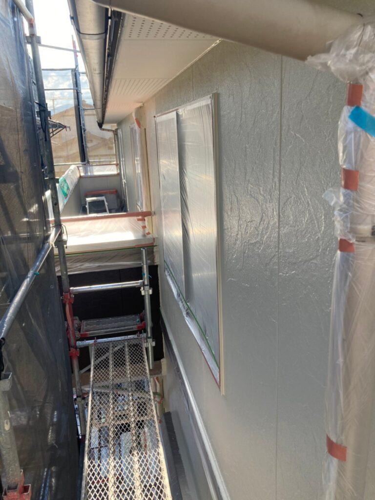 小郡市 外壁塗装(上塗り) 写真12