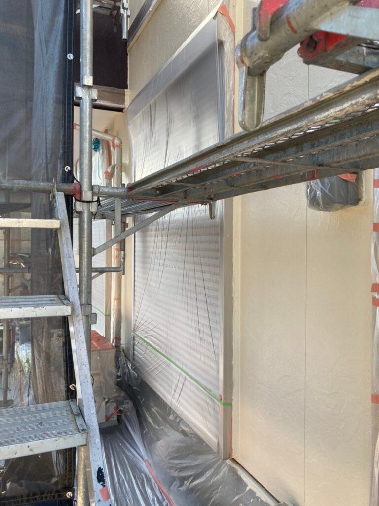 小郡市 外壁塗装(上塗り) 写真14