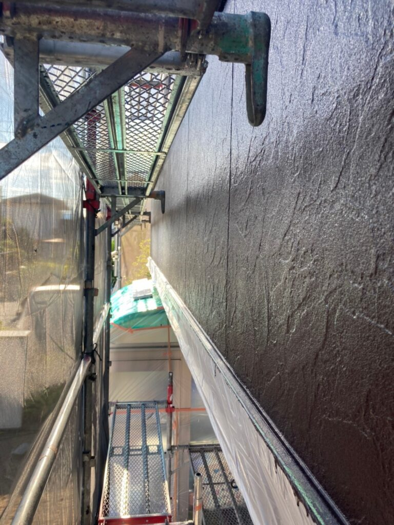 小郡市 外壁塗装(上塗り) 写真16