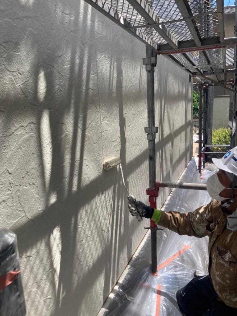 小郡市 外壁塗装(上塗り) 写真3