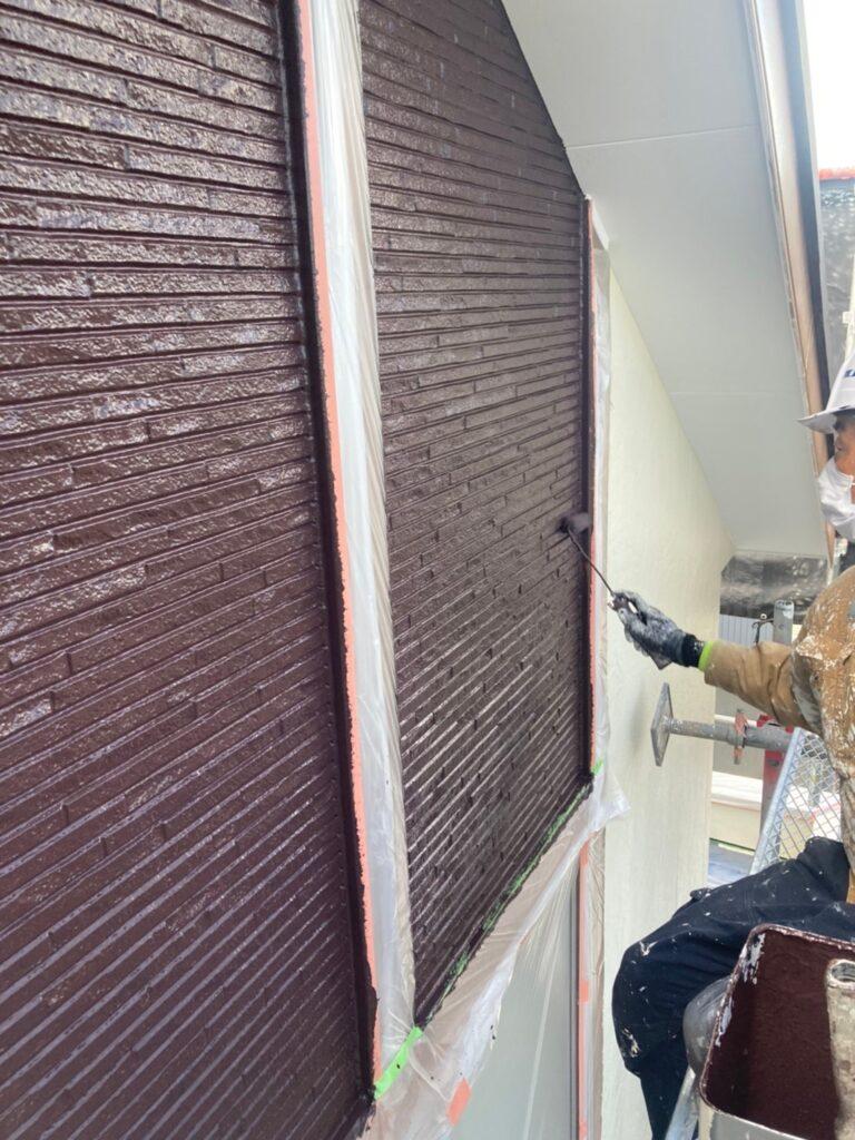 小郡市 外壁塗装(上塗り) 写真7