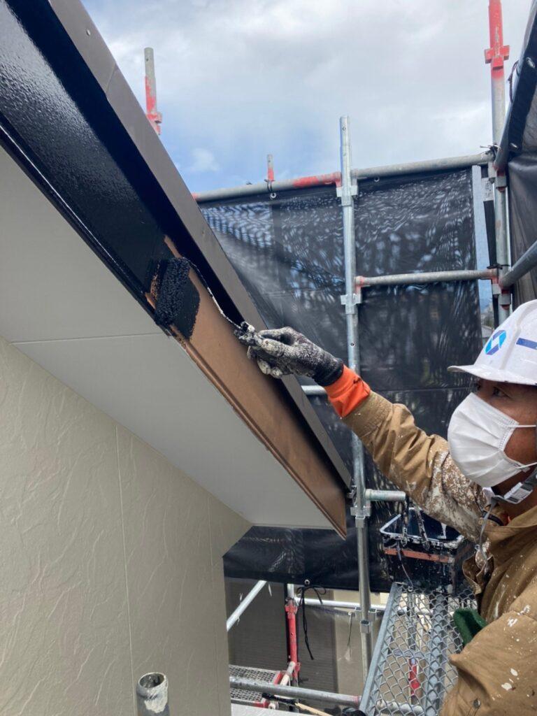 小郡市 屋根塗装(下塗り) 付帯塗装 写真10
