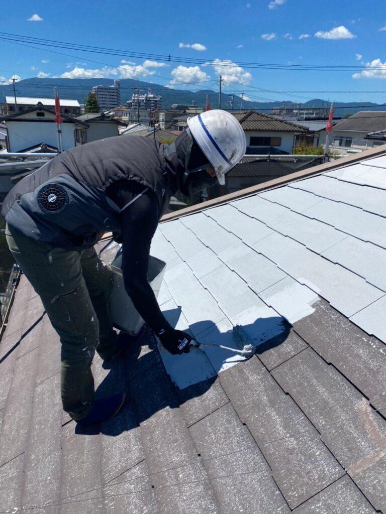 小郡市 屋根塗装(下塗り) 付帯塗装 写真4