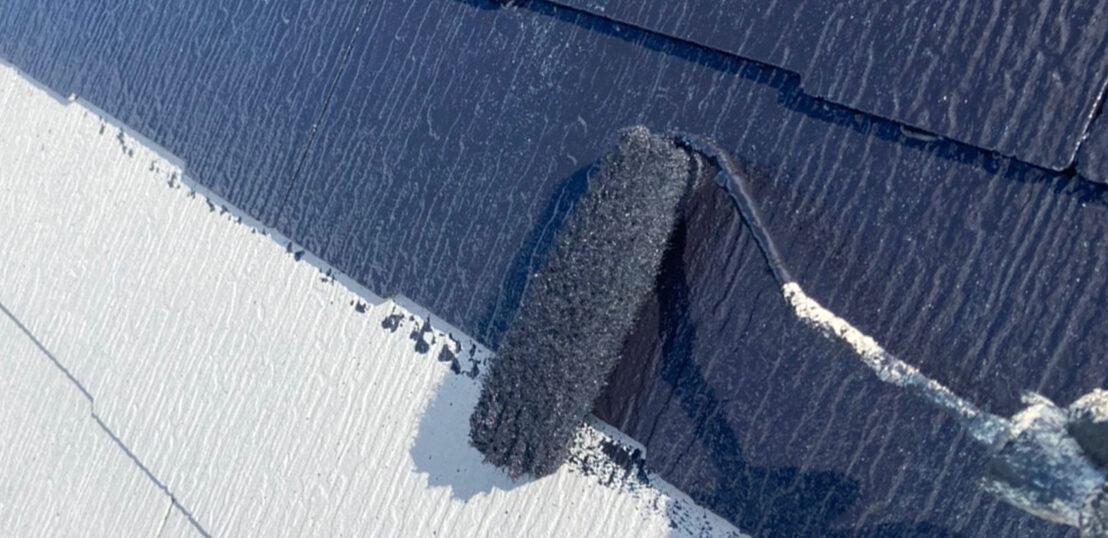 小郡市 屋根塗装(中塗り) 付帯塗装