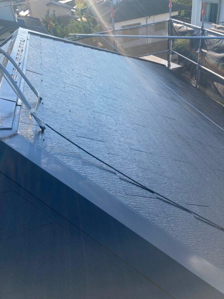 小郡市 屋根塗装(中塗り) 付帯塗装 写真4