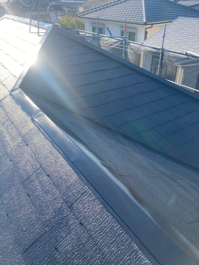 小郡市 屋根塗装(中塗り) 付帯塗装 写真6