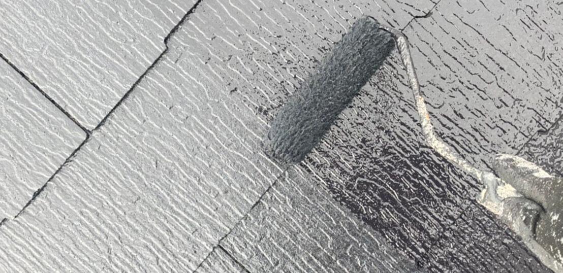 小郡市 屋根塗装 縁切り・上塗り