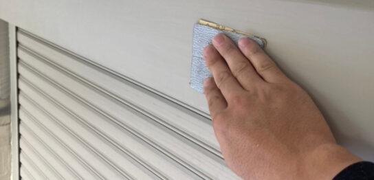 小郡市 付帯塗装③ 折半屋根錆止め塗装
